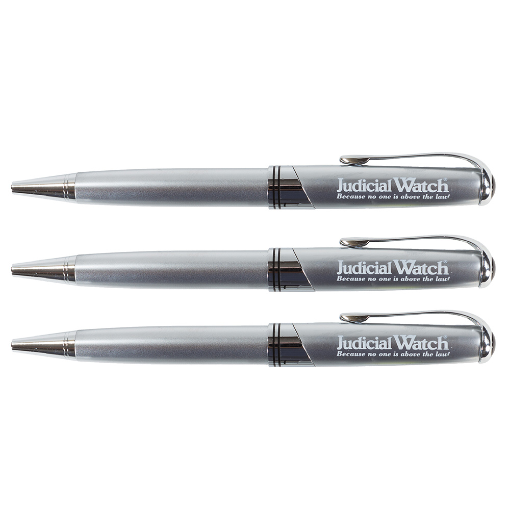 Judicial Watch Silver Pen (3 Pack)